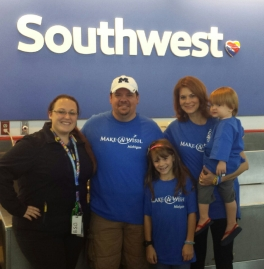 Southwest airlines comps flights for Make-A-Wish children and their families to travel to their wish destinations!