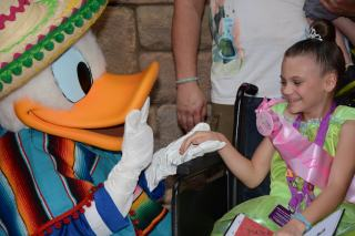 Donald Duck kissing Princess Mercy's hand!