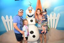 Meeting Olaf, Doing Whatever Snow Does in Summer!