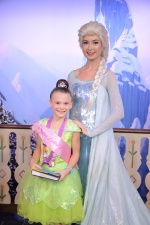 There was a special entrance for wish children to meet Elsa!
