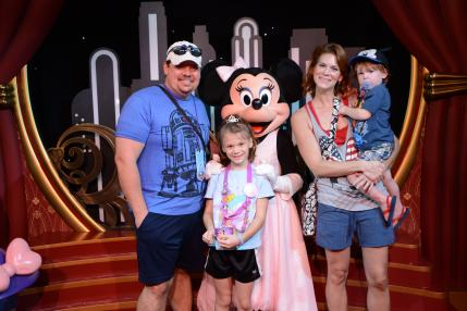 Our family with Princess Minnie Mouse