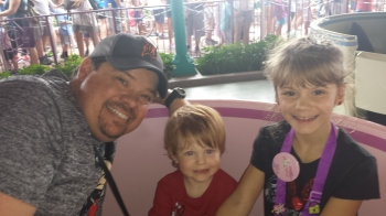Dan and the Kids on the Teacup Ride