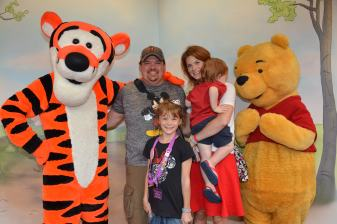 Family Photo with Our Hundred Acre Woods Pals