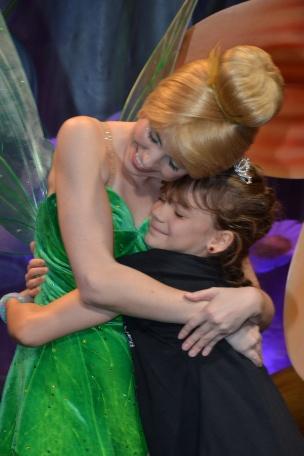 Tinker Bell hugs