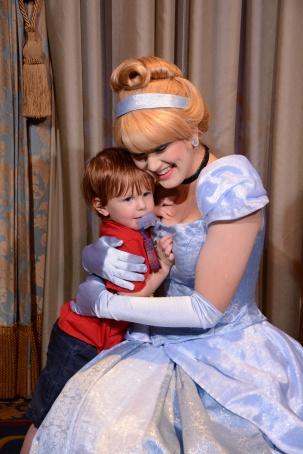 PJ hugs Cinderella