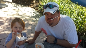 Celebrating with Ice Cream at the GKTW Palace, after the day that epilepsy stole!